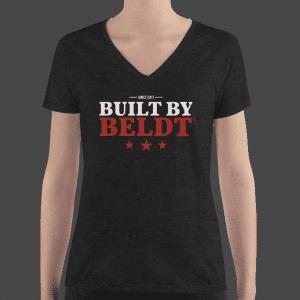 BUILT BY BELDT Women's Deep V-neck T-Shirt